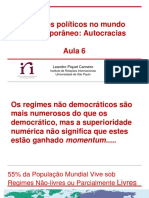 Aula 6 Regimes Políticos No Mundo Contemporâneo