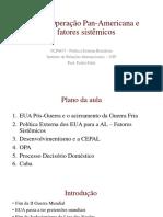 Aula 2. Operação Pan-Americana e Os Fatores Sistêmicos