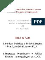 Aula 4. Atores Domésticos Na Política Externa Brasileira