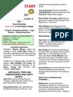 Moraga Rotary Newsletter August 29 2017