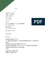 Quant Formulas GMAT