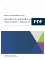 Construction Guidelines - Health Safety Employment Standards