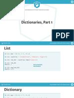 Python Dictionaries & Pandas