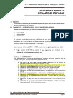 03. Memoria Instalaciones Sanitarias Colegio