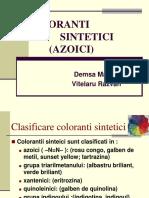 Prezentare Coloranti Azoici.ppt Prezentare in 2003