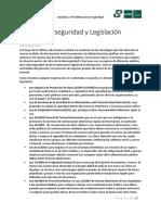 Ciberseguridad y Legislación