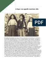 Fatima 100 Anni Dopo- Un Appello Mariano Alla Chiesa Intera