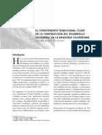 6 Conocimiento Tradicional Clave en La Contruccin Del Desarrollo Sostenible en La Amazonia Colombiana