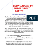 The Lesson Taught by the Three Great Lights