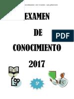 EXAMEN CONOCIMIENTO 5º