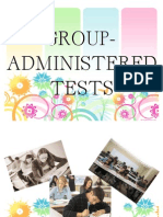 Group Administered Tests