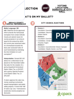 Municipal Election Fact Sheet 2017
