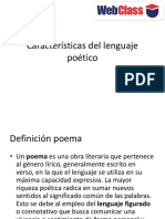 Caracteristicas del lenguajepoetico