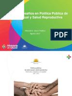 Informe del MSP sobre política pública de salud sexual y reproductiva