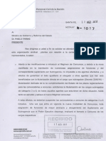 Nota Presentada Por UPCN Sobre Carrera Administrativa