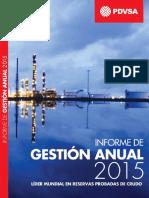Informe Gestión Anual  de PDVSA 2015