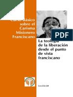 Lección 20 - La Teología de La Liberación Desde El Punto de Vista Franciscano