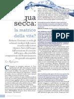 Acqua Secca Matrice Vita Roberto Germano Scienza&Conoscenza