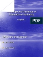 The Scope and Challenge of International Marketing