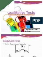 Qualitative Tests
