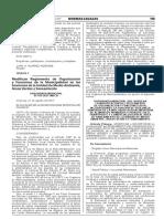 Modifican Reglamento de Organización y Funciones de la Municipalidad en las funciones de la Unidad de Medio Ambiente Áreas Verdes y Saneamiento