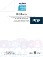Programa Jornadas Enseñanza-Aprendizaje