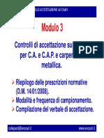 3. Controlli Di Accettazione Su Acciaio Per C.a. e C.a.P.