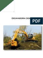 mante excavadora cx240