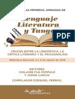 Actas de Las Primeras Jornadas de Lenguaje, Literatura y Tango