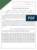 Atividade de Portugues Caca Palavras Adjetivos 6º Ano Respostas