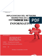 Implicancias Del Network Marketing en Las Empresas de Lambayeque en Los Años 2014 y 2016