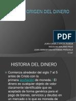 Origen Del Dinero