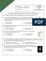 f) 1º-2º-3º Ano - Alongamento e Planos Do Corpo Mexidos