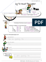 Future Tense Worksheets for English Language Teaching Classes, Future Tense in ESL, Grammar Resources