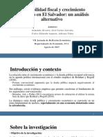 Presentación Sostenibilidad Fiscal y Crecimiento Económico