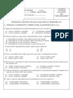 c) 9º Ano - Capacidades Físicas e Ex Aeróbicos