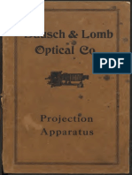 Bausch AndLomb Projection Apparatus