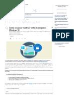 Cómo Escanear y Extraer Texto de Imágenes Windows 10 - Solvetic