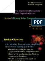 5.7 Ministry Budget Framework