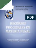 Recursos Procesales en Materia Penal