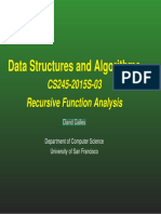 Recursive Function  Analysis