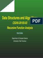 Recursive Function  Analysis