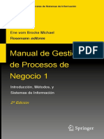 Handbook on Business Process Management Español