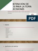 Obtención de Datos para la Toma de Decisiones