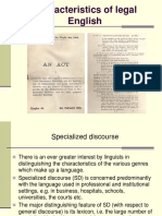 Characteristics of Legal English