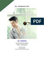 Jaz – Kasmaran Lyrics