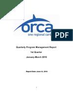 JB ORCA Program Management Quarterly (1Q 2010) Report Final _ 06-14-2010
