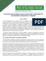 Principios Etnoecológicos Para El Desarrollo Sustentable