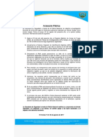 Aclaracion Publica Policia Honduras