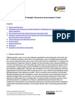 NGSS/CCSS-M Sample Classroom Assessments Tasks
